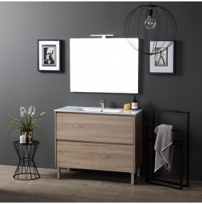 mobile lavabo a terra rovere well